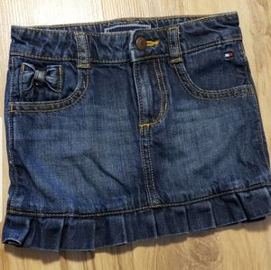 Tommy Hilfiger denim toddler girl skirt 2t